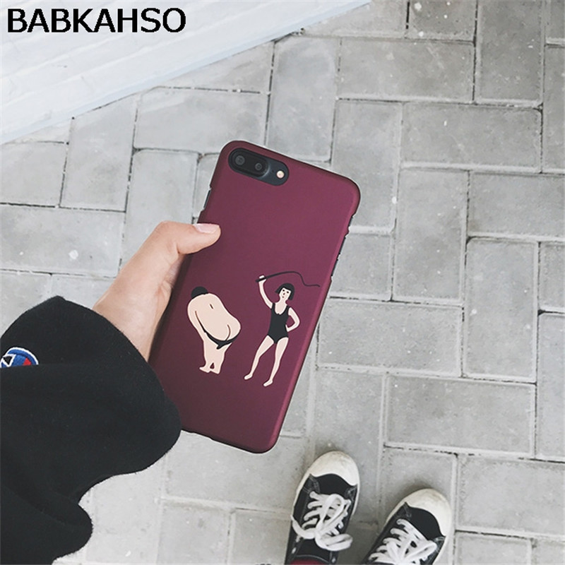 BABKAHSO Funny personality case for iPhone 8 8plus 7 7plus men women case for iphone 6 6S Plus 6Plus capa ultra-thin protective
