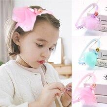 Sale 1PC New Korean children fashion princess dress headband lace fabric cartoon hair accessories