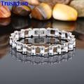 TrustyLan Fashion Stainless Steel Men's Bracelets Bangles Jewelry Bracelet Men Great Design Motorcycle Bike Chain Bracelets Man