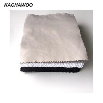 Kachawoo 175 мм x 145 мм 100 шт. иглы 1 объектив чистящие салфетки для очков аксессуары черный белый серый для очистки стекол ткань