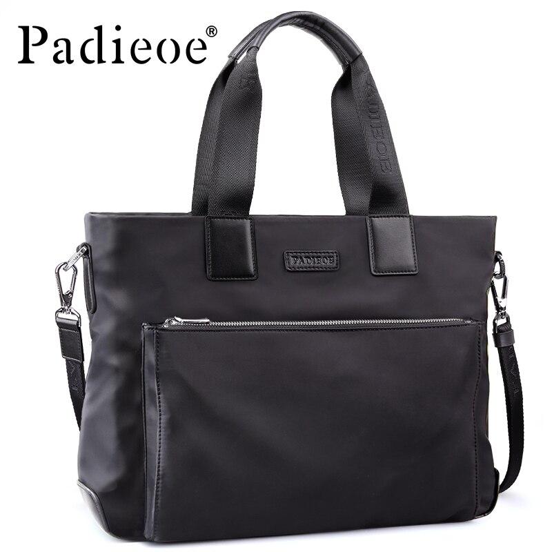 Padieoe Male Briefcase Handbag Men's Waterproof Briefcase Durable Nylon Laptop Shoulder Bag High Quality Tote Bags For Portfolio