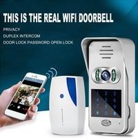 WiFi Wireless Video IR Camera Door Phone Visual Intercom Door Bell Night Version For IPad Phone