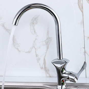 Free shipping Hot selling brass kitchen faucet with polished chrome kitchen sink faucet single handle kitchen