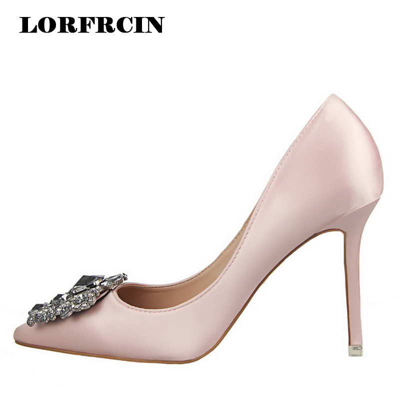 Luxury Rhinestone Women Pumps Wedding Shoes Ladies High Heels Pointed Toe Stiletto Womens Sparkly Diamante Prom Party Shoes free shipping sparkly silver crystal and rhinestone high heels with spikes ultra high heels shoes for wedding party prom