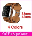 New Arrival 1:1 Genuine Leather watchBand Cuff Bracelet Leather Band straps For Apple Watch 38mm 42mm free shipping
