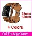 Nova Chegada 1:1 Genuína pulseira de Couro Manguito Pulseira Relógio Banda tiras de Couro Para Apple 38mm 42mm frete grátis