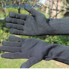 Long Cut Resistant Working Gloves With Stainless Steel Wire Protective Safety Gloves Metal Tactical Steel Gloves
