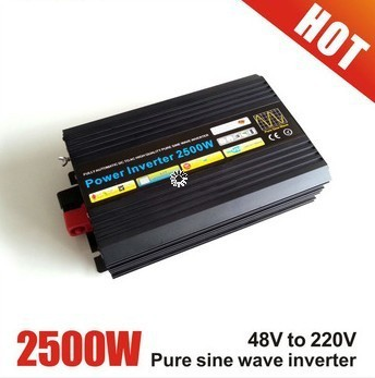 2500W Off Grid inverter 12V 24V DC to AC 110V or 230V, Pure Sine Wave Solar Wind Power Inverter 2500W with 5000W Peak Power