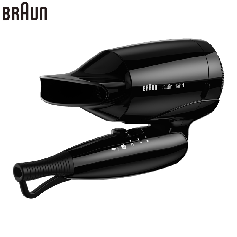 Braun HD130 foldable Electric Hair Dryer Professional Hairdryer Fast Drying Blow Dryer Stylish Design Hair Protector 110-240V shanghai kuaiqin kq 5 multifunctional shoes dryer w deodorization sterilization drying warmth