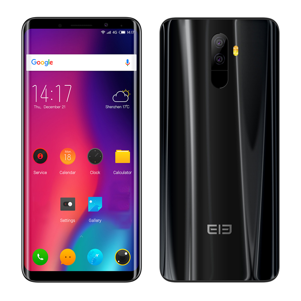 Elephone U 5.99'' FHD Android 7.1 MTK6763 Octa Core 2.0GHz 4GB+64GB 13MP+13MP Dual Rear Cams Fingerprint 4G Mobile Phone 3620mAh
