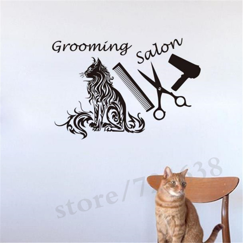 Stupendous Us 9 59 20 Off Pet Grooming Salon Vinyl Wall Sticker For Kids Room Removable Dog Pet Shop Wall Decals Home Decor Bathroom Stickers In Wall Stickers Beutiful Home Inspiration Aditmahrainfo
