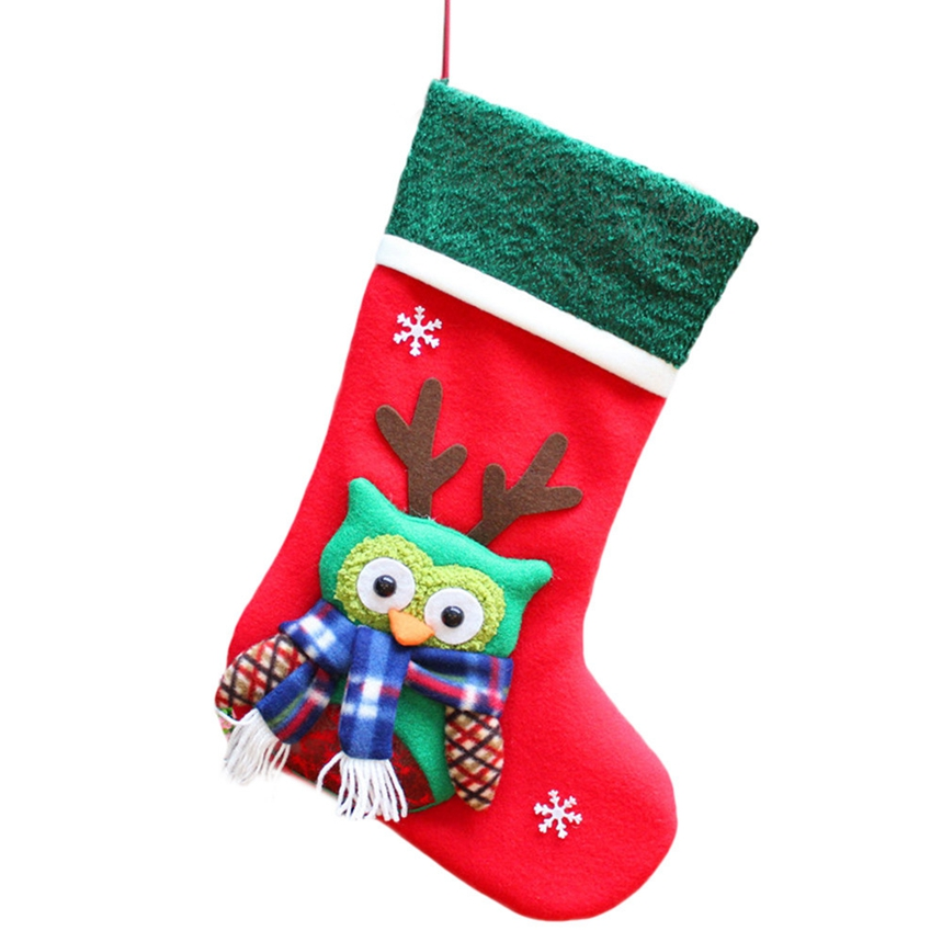New Arrive Santa Claus Snowman Christmas Stocking Decoration Tree Ornaments Christmas Candy Bags Gift Holders for Childrens A12