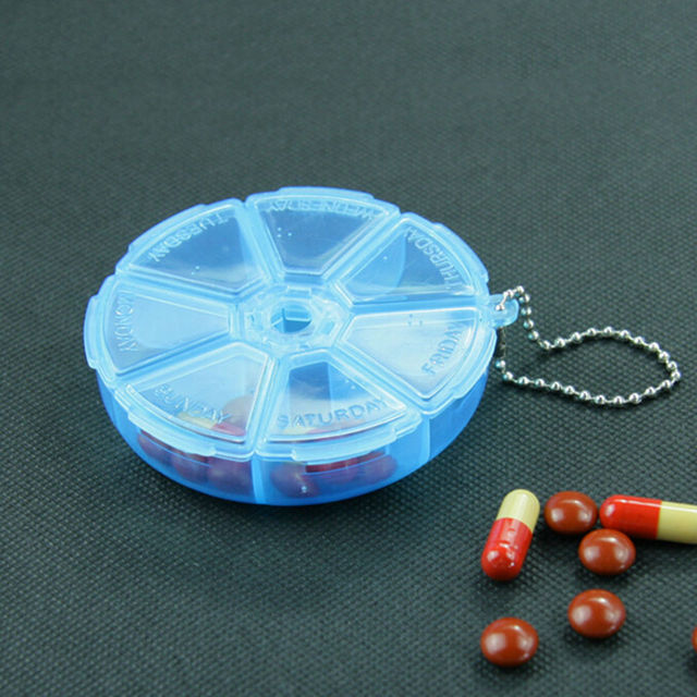 1 PCs Square Folding Vitamin Medicine Drug Pillbox Travel Pill Box Makeup Storage Case Container Pill Cases & Splitters 4