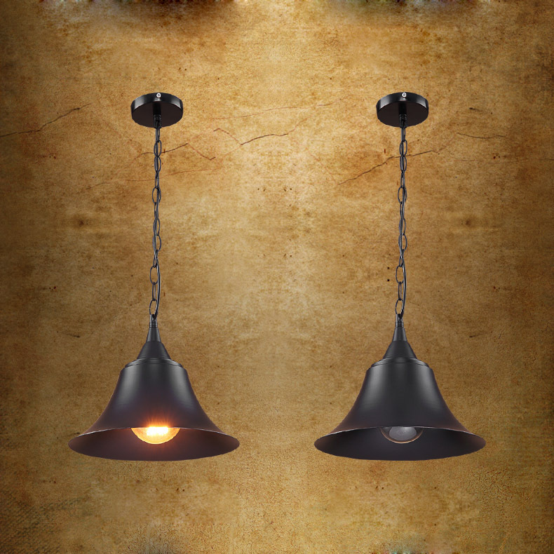 American Industrial Loft Black Metal hat Chain Pendant Lamp Creative Bar Counter Kitchen Dining Room Restaurant Pendant Lamp vintage pendant lights industrial loft american retro lamps creative restaurant dining room lamp bar counter incandescent bulb