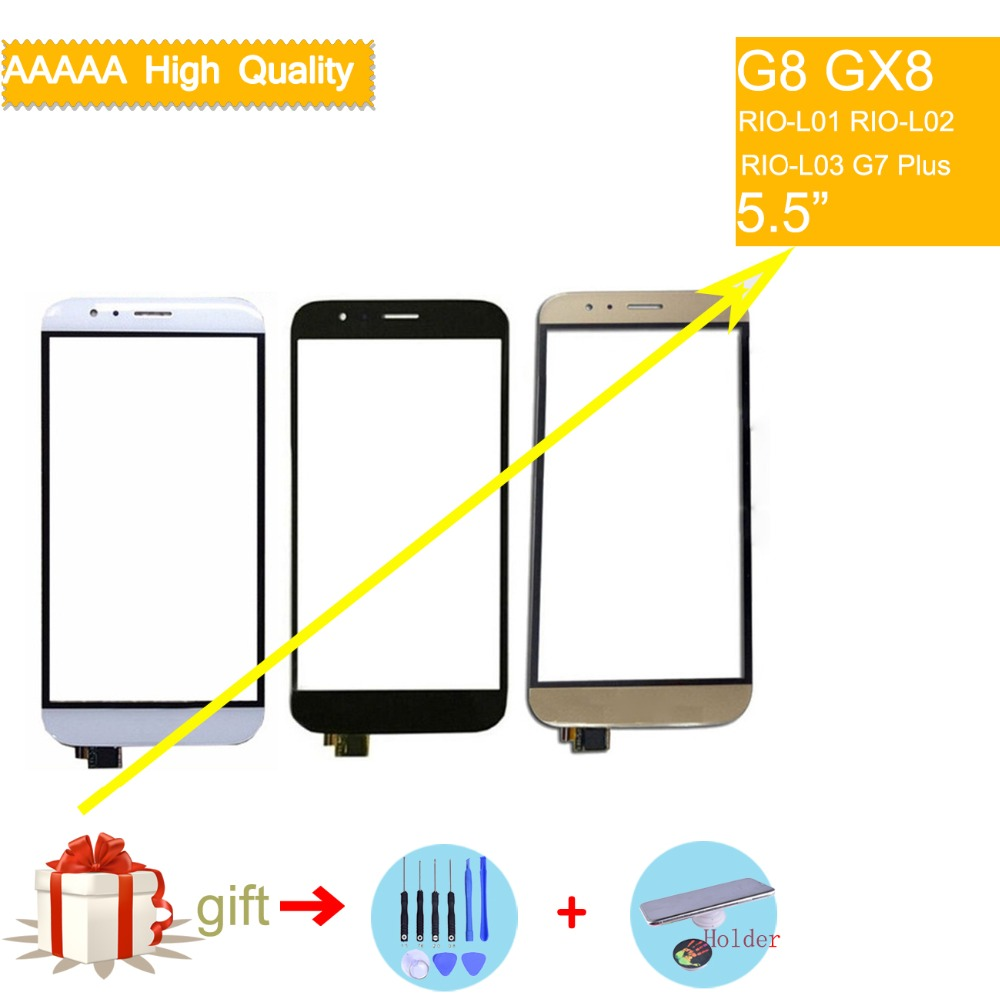 For Huawei G8 GX8 RIO-L01 RIO-L02 RIO-L03 Touch Screen Touch Panel Sensor Digitizer Front Outer Glass Lens Touchscreen NO LCD