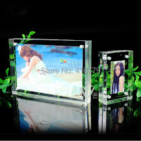 THZ Acrylic Magnet Photo Frame 7 Inch 178x127mm 10 10mm Home Decor Creative Rectangle Crystal Picture