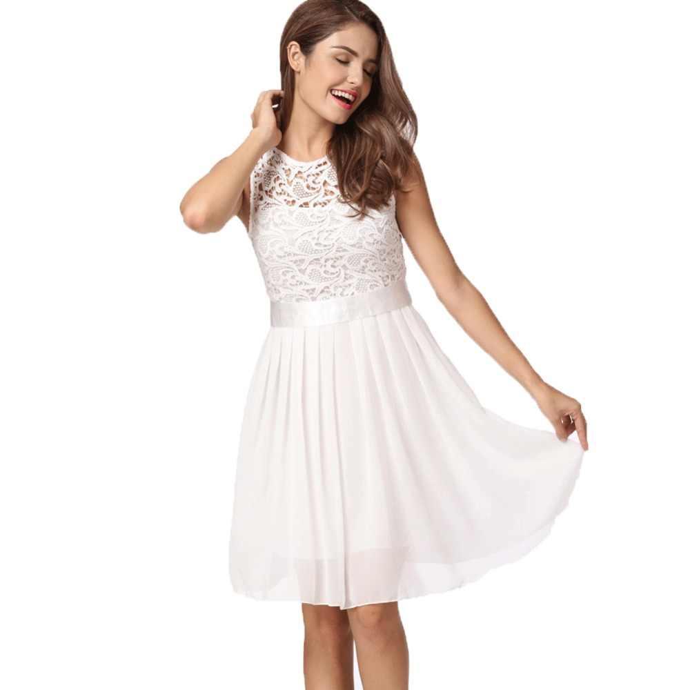0cd0c248049a5 Elegant Ladies clubwear Lace Dress Women Chiffon Dress Mini Gowns Girls  Princess Party Dresses female vestidos Plus Size 3XL 5XL