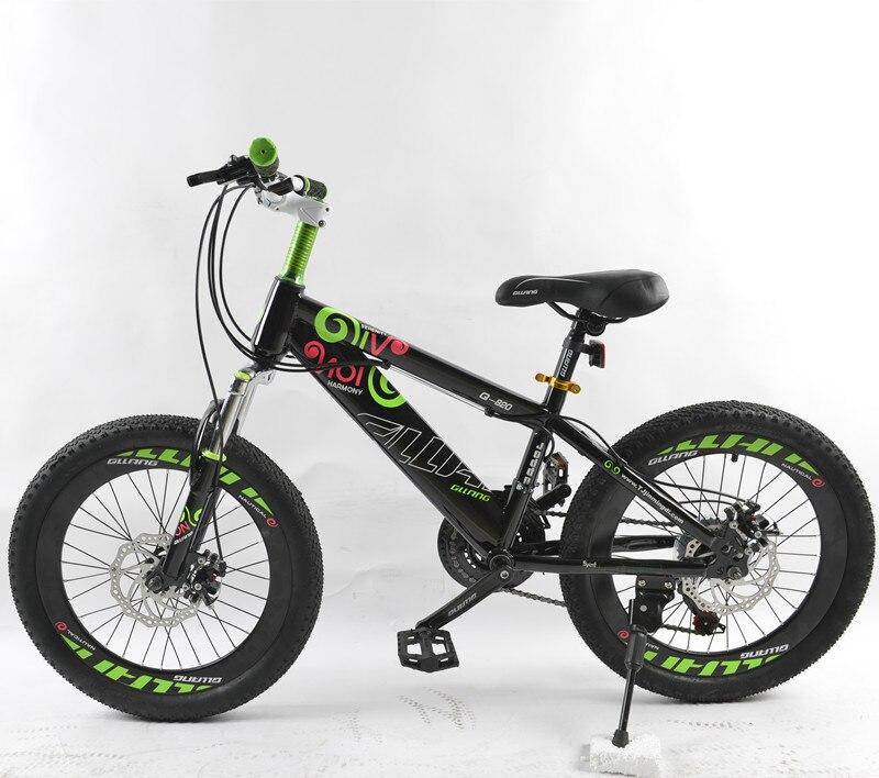 PULID 20-inch Дети горный велосипед для мальчиков и девочек велосипеды механические дисковые тормоза 2 цвета унисекс детские спортивные стали ве...
