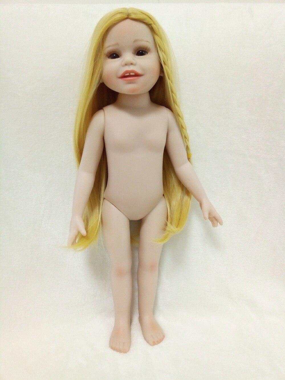 86fad704fc072 Vente 45 cm dur vinyle poupée jouets pour enfants 18 pouce plein corps en  silicone reborn bébé vivant poupées brinquedo faire up pour DIY Pas Cher En  Ligne.