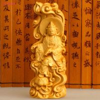 Hand Carved Wooden Furnishing Articles Fu Lu Shou Root Carving Handicraft Hang Decorations Gift Boutique Collection