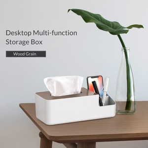 Image 2 - ORICO Desktop Multi function Storage Box Wood Organizer Remote Controller Cosmetic Storage Boxes