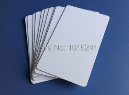 Blank Inkjet printable white ID cards PVC cards 230pcs/bag. Printed by Epson R230 R290 R330 T50 printer
