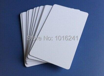 Cartes d'identité blanches imprimables à jet d'encre vierges cartes PVC 230 pièces/sac. Imprimé par Epson R230 R290 R330 T50 imprimante