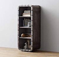 4 полки открыть книжный шкаф, мебель металлический шкаф для хранения, 4 ярусная Организатор, небольшой шкаф, черный