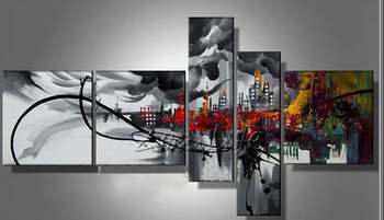 Cuadros Decoracion 5 piece panel canvas art Modern abstract  hand painted picture oil painting 22