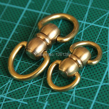 free shipping S style hook brass swivels D ring lock buckle handmade bag luggage accessories bag hanger diy hardware craft part