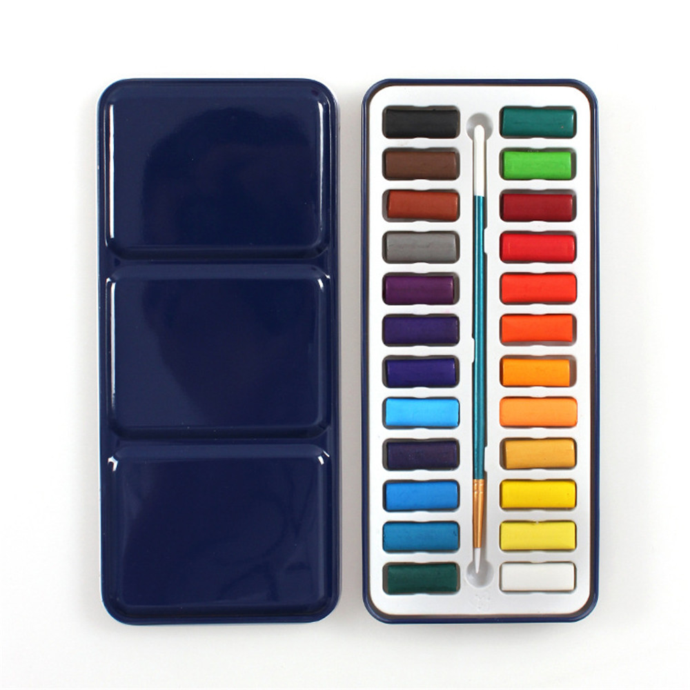 buy vogue colorful portable iron box solid watercolor paints set for artist school student drawing painting stationery art supplies from