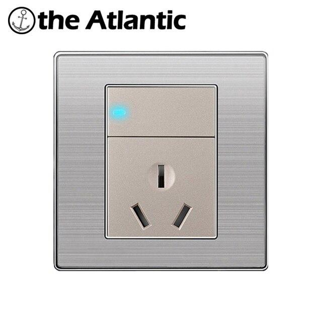 Atlantic Hot Enchufe Luxury Wall Stainless Steel Panel 1 Gang 2 Way ...