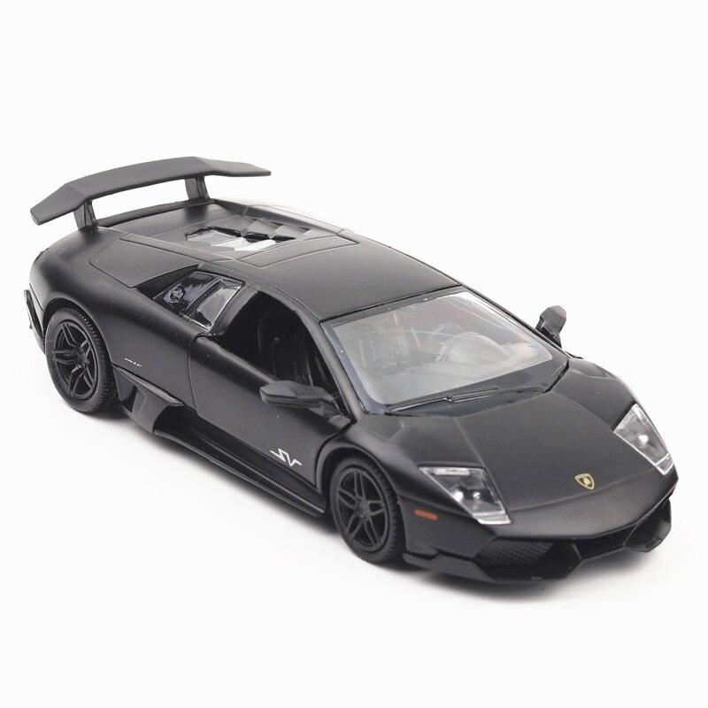 5 pouce Haute Simulation Jouet Véhicules Diecaste Métal Alliage De Voiture Pour Lamborghini Murcielago Modèle Jouet Véhicules Mat Noir Pour Enfant