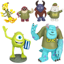 12/Set Disney Pixar monstruos Universidad monstruos Inc James P sullivan Mike Wazowski Randall Boggs modelo juguetes para niños de regalo