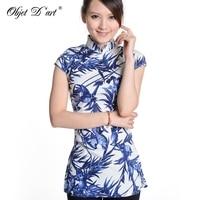 2013 Chinese Style Women S Cotton Top T Shirt Blouse Cheongsam Sz 6 12
