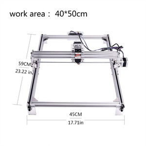 Image 2 - עבודה אזור 40cm x 50 cm, 500 mw/2500 mw/5500 mw לייזר cnc מכונת, שולחן העבודה DIY ויולט לייזר חריטת מכונה תמונה CNC מדפסת
