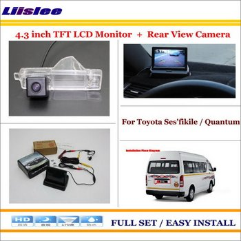 "Liislee For Toyota Ses'fikile / Quantum - Car Reverse Back Rear Camera + 4.3""  LCD Screen Monitor = 2 in 1 Rear Parking System"