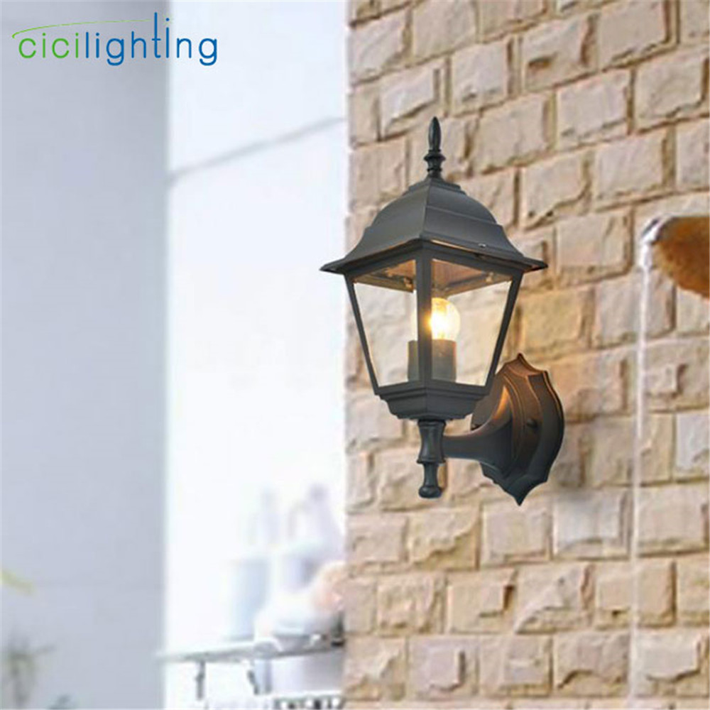 European style outdoor wall lamp retro porch light balcony corridor aisle Garden restaurant dining room waterproof lighting pioneer dm 40 dj