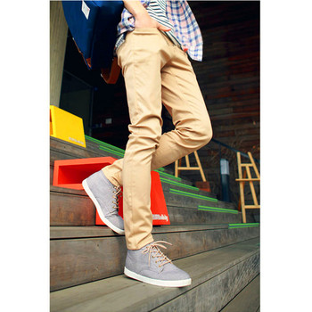 Male Casual Khaki Pants Slim Beige Fashion Trend of The Male Pants Small Straight Trousers Pants Men Pantalon Homme Men Clothes