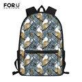 FORUDESIGNS/школьные сумки для студентов с принтом белки  Детский Школьный Рюкзак Для Путешествий  Повседневный женский рюкзак для ноутбука