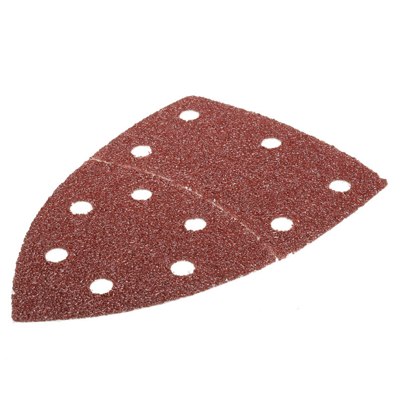 Image 4 - 5pcs/set 150mm Sanding Sheets Paper For Palm Detail Sander 40/80/120/180 Grit For Wood Paint-in Abrasive Tools from Tools
