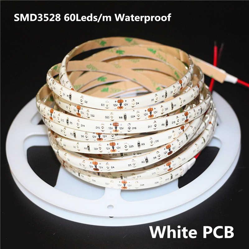 0,5-5 м DC 12 V ультрафиолетовый свет LEF полосы 3528 SMD 60 светодиодов/m ip65/не Водонепроницаемая ультрафиолетовых лучей фиолетовый Гибкая ленточная лампа