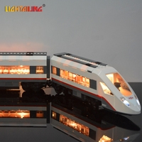 LIGHTAILING Brand Led Light Building Blocks Kit For Trains High Speed Passenger Compatible With Lego 60051