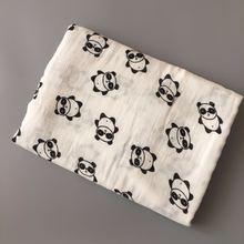 Детское полотенце 120x120 см 2 слоя органический хлопок марлевые