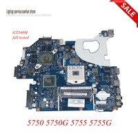 NOKOTION MBRCG02006 P5WE0 LA 6901P Laptop motherboard for Acer Aspire 5750 5750G MB.RCG02.006 DDR3 GT540M Main board Full Tested