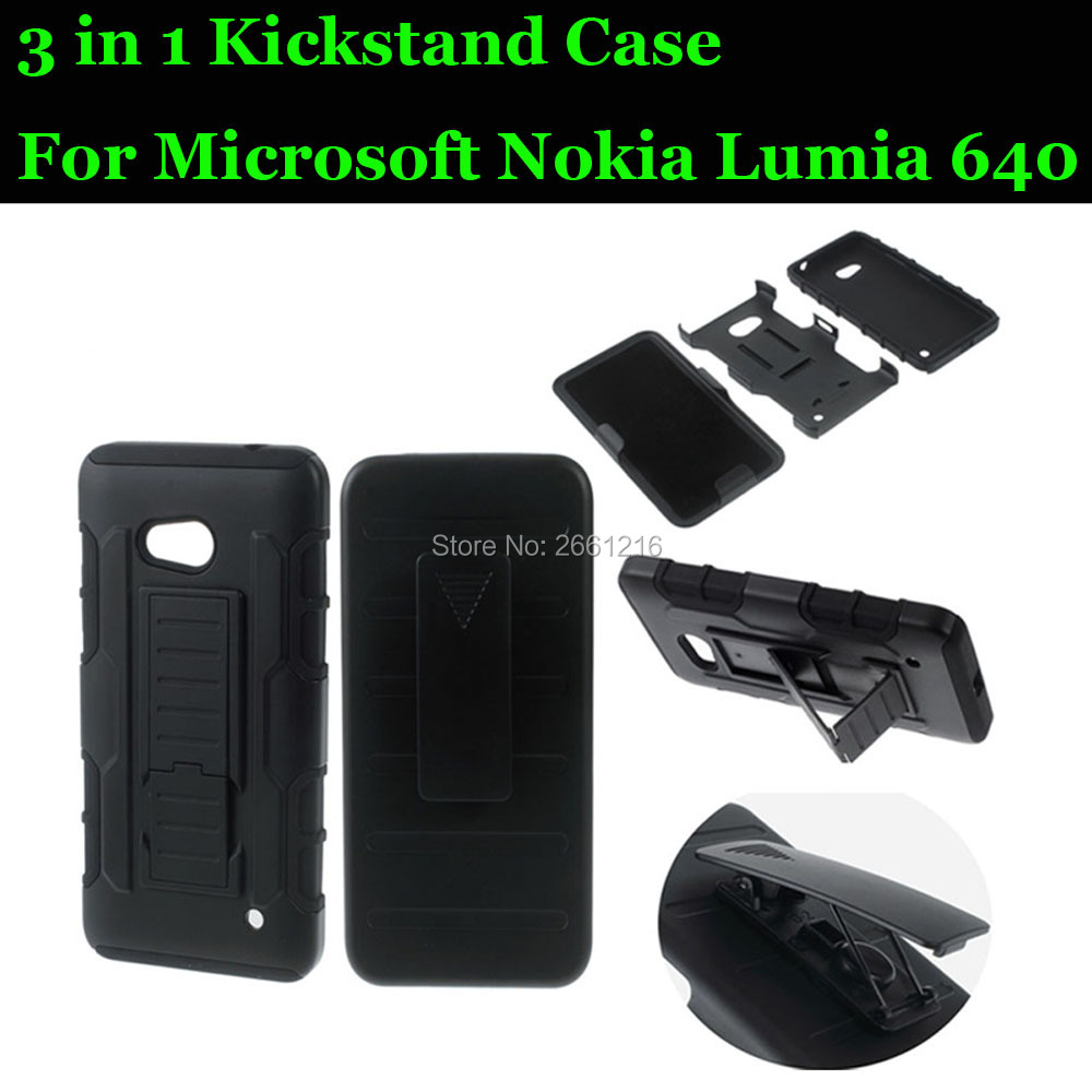 For Lumia 640 Shockproof Future Armor Belt Clip Holster Case With Kickstand Cover For Microsoft Nokia Lumia 640 5.0