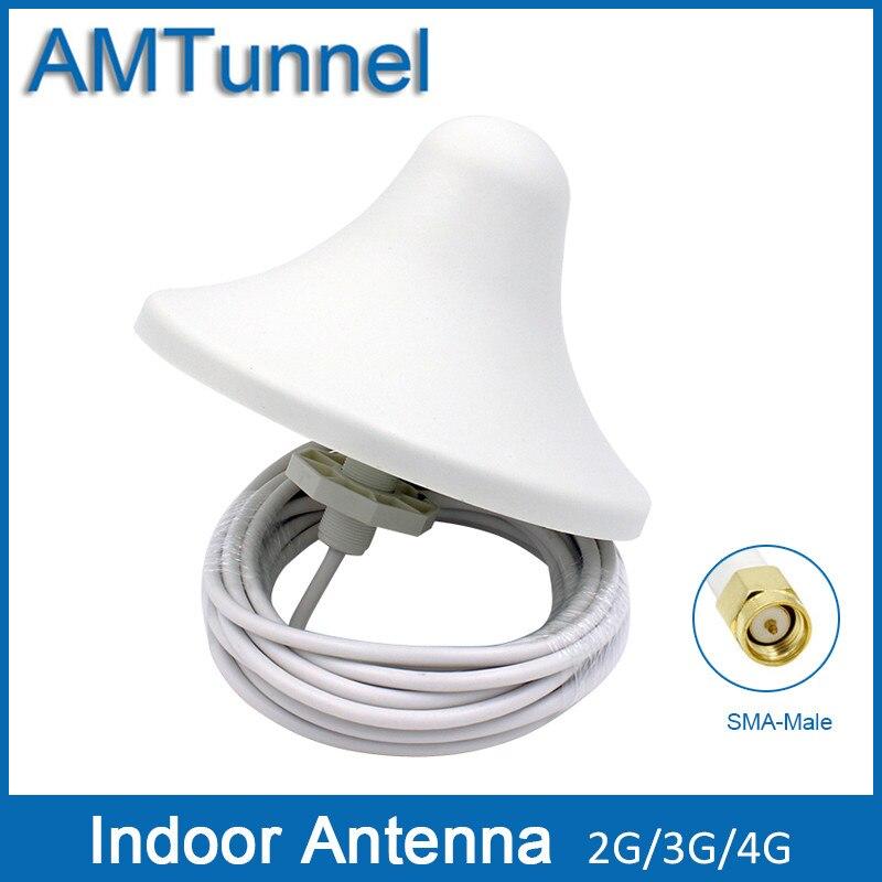 4G antenne 3G omni antenne 4G 5dBi antenne intérieure 2G externe antenne avec 5 m câble et avec SMA mâle connecteur pour intérieur utiliser