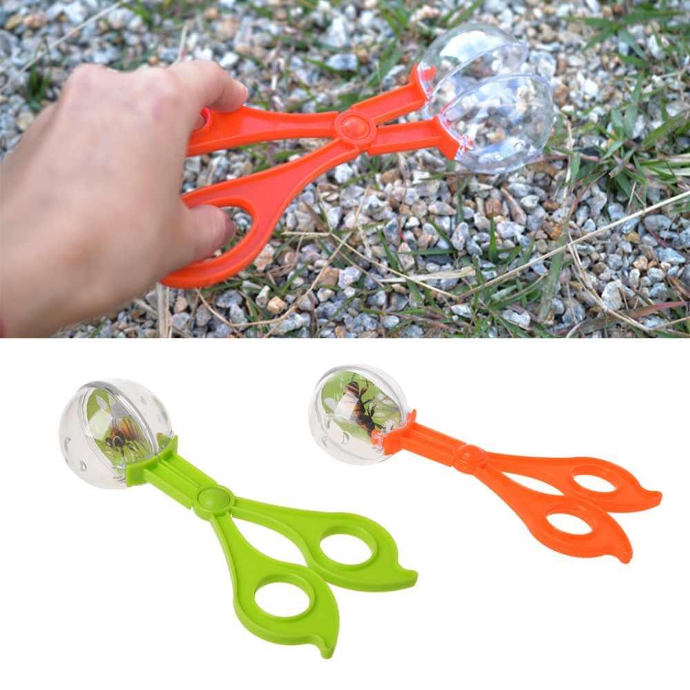 Apanhador de Insetos Bug plástico Tesoura Pinças Pinças Para Crianças Brinquedo das crianças Handy