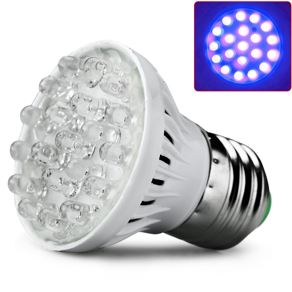 E27 LED 220V 20LED Plant Grow Lamp UV Light Indoor Flower Vegetable ...