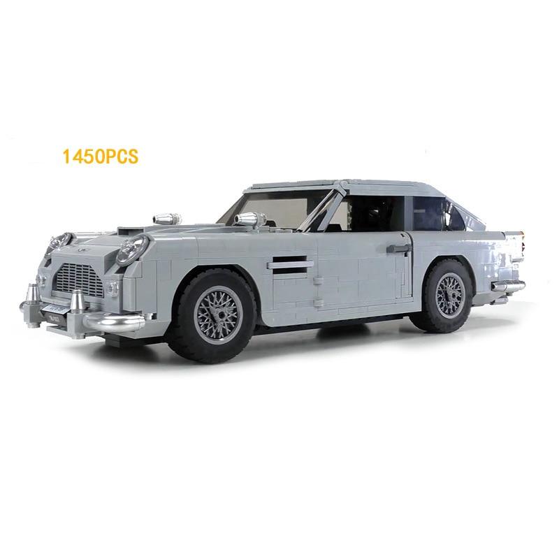 купить 2018 builder movie creator 007 classic Vintage car james bond Aston Martin DB5 building block model bricks 10262 toys collection по цене 4969.94 рублей